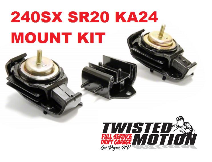 twisted motion motor and trans mount kit for 240sx sr20det ka24de